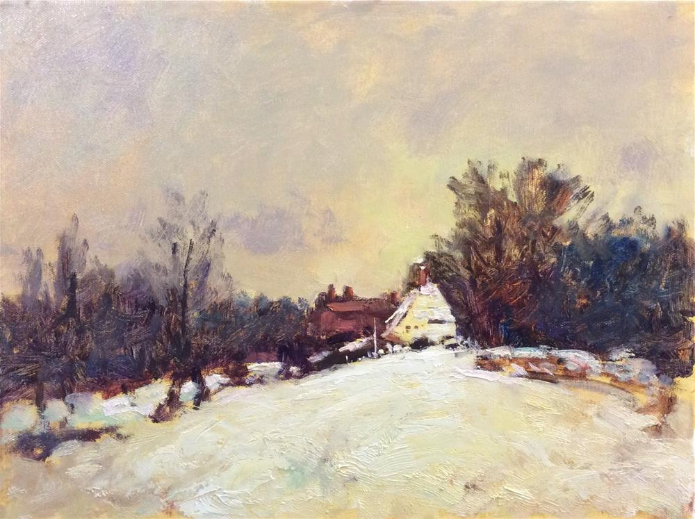"""Snowy Landscape"" original fine art by John Shave"