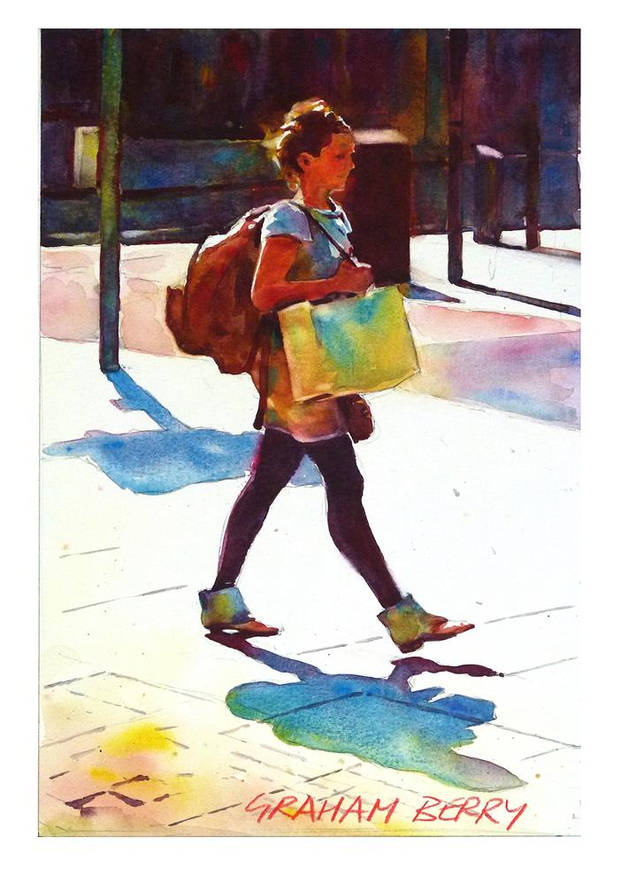 """Shopper."" original fine art by Graham Berry"