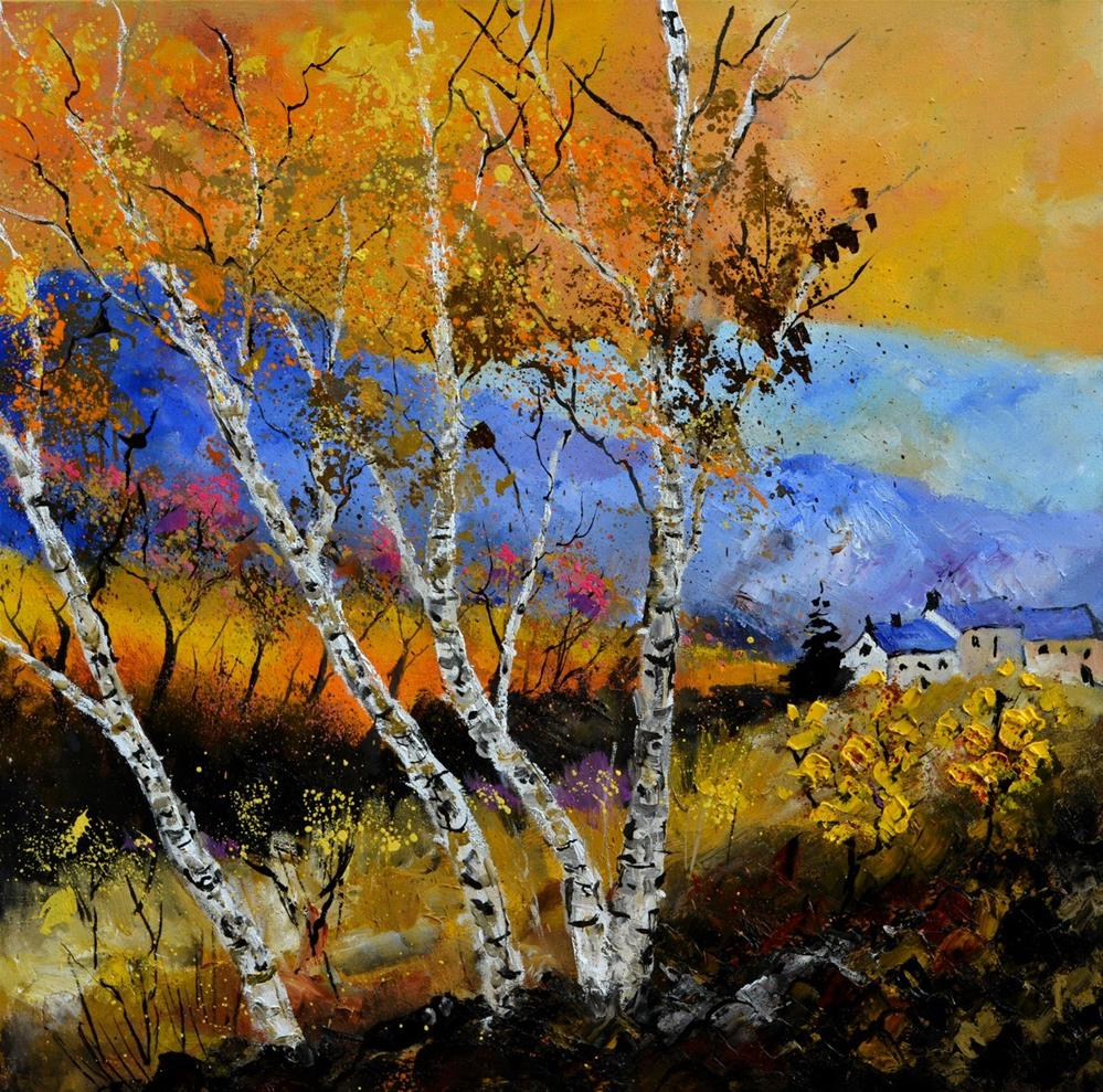 """Autumn 886130"" original fine art by Pol Ledent"