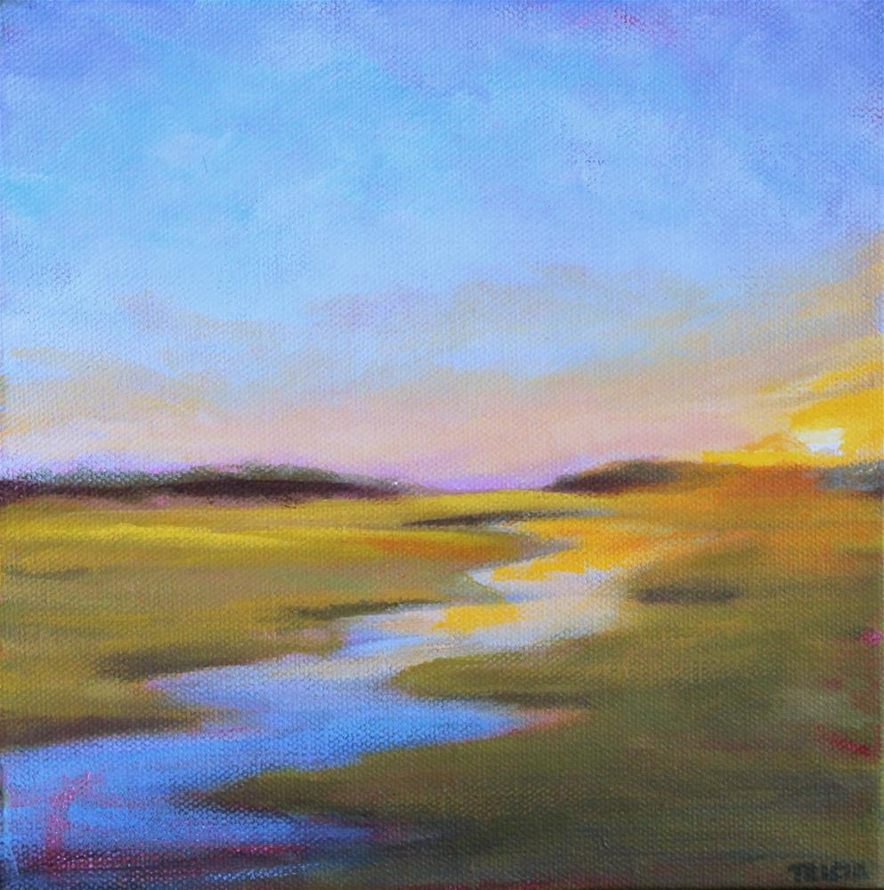 """Late Day Marsh"" original fine art by Tricia Granzier"