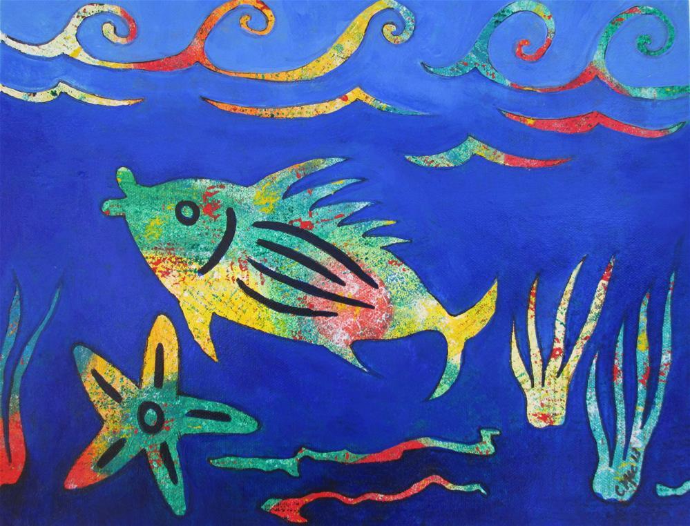 """Lenca Fish"" original fine art by Chris MacCormack"
