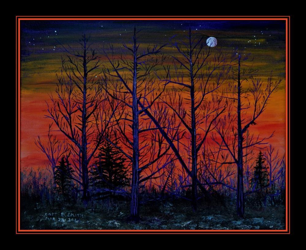"""Red Dawn"" original fine art by Captain B Smith"