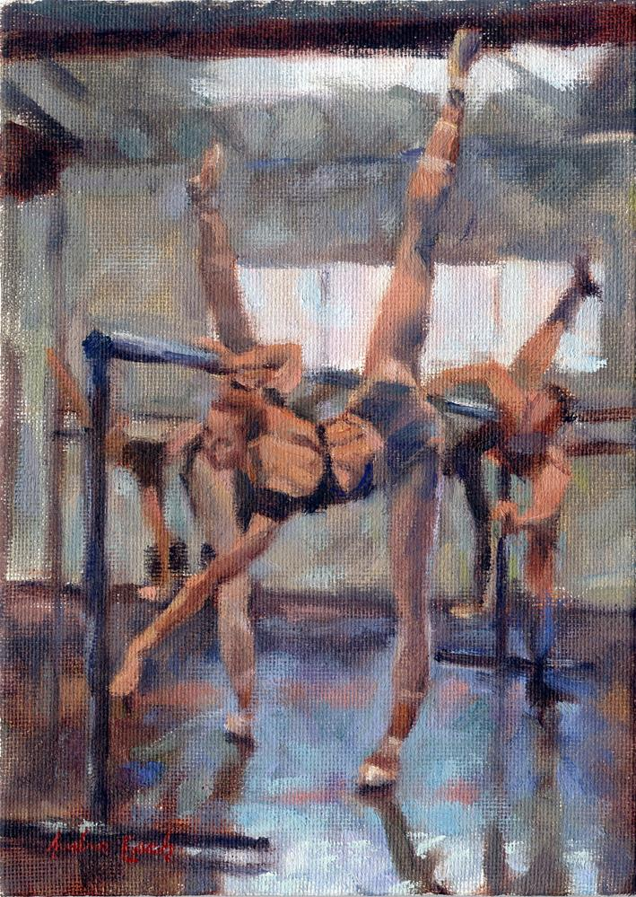 """Los Angeles Ballet: Stretches"" original fine art by Audra Esch"