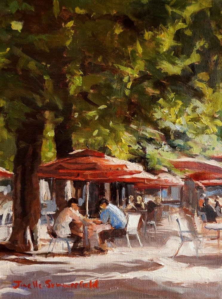 """Paris Cafe III"" original fine art by Jonelle Summerfield"