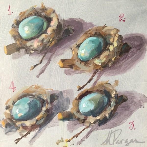 """Nest 1234"" original fine art by Mary Pargas"