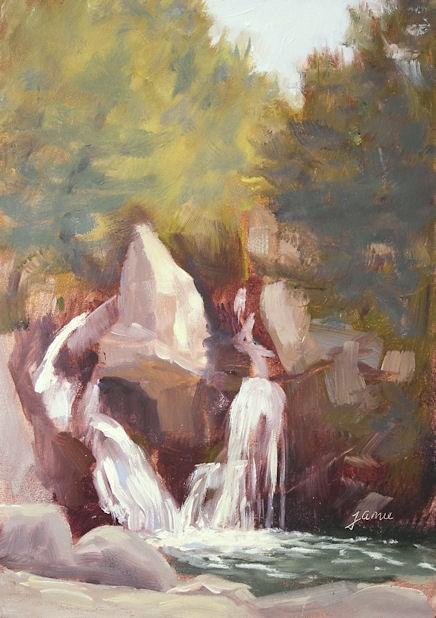 """Bash Bish Falls"" original fine art by Jamie Williams Grossman"