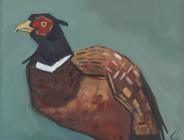 """Ring Necked Pheasant"" original fine art by Elizabeth See"