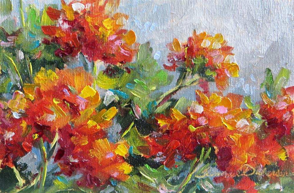 """July Geraniums"" original fine art by Tammie Dickerson"
