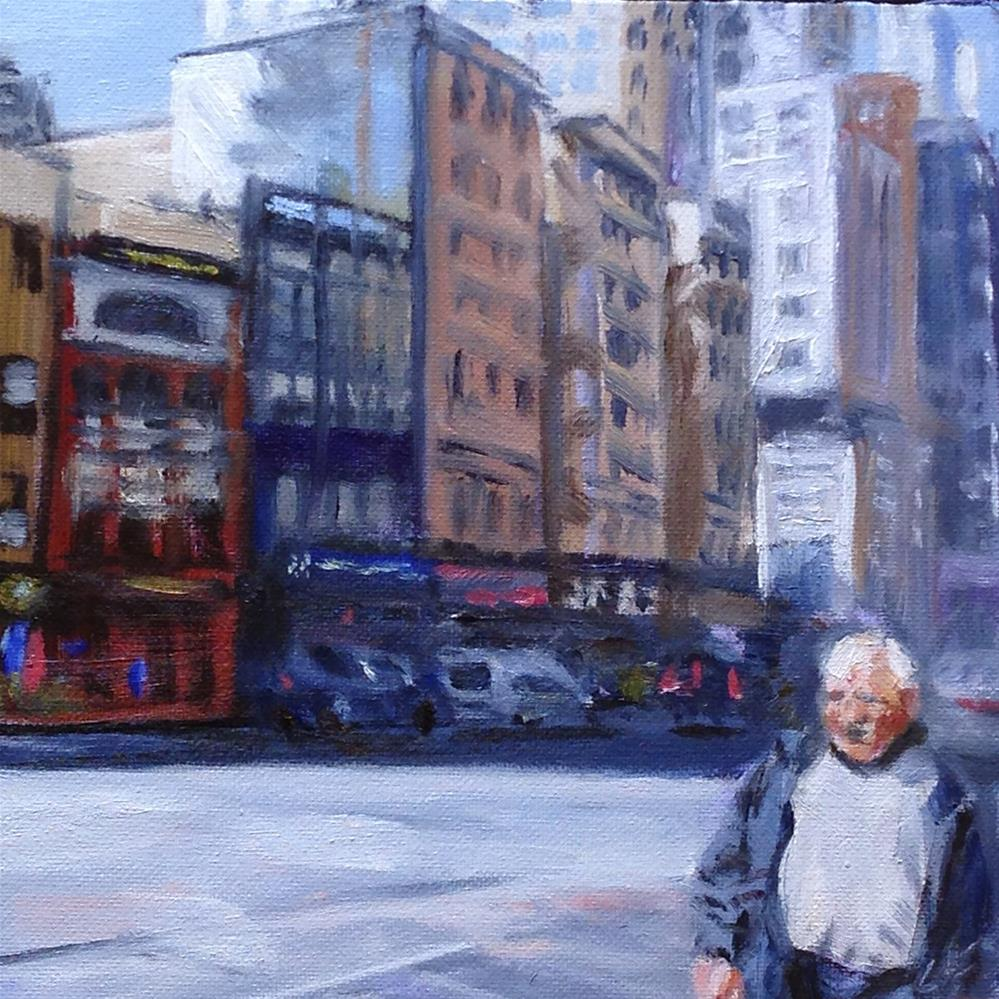 """Sun in the City"" original fine art by Linda Lowery"