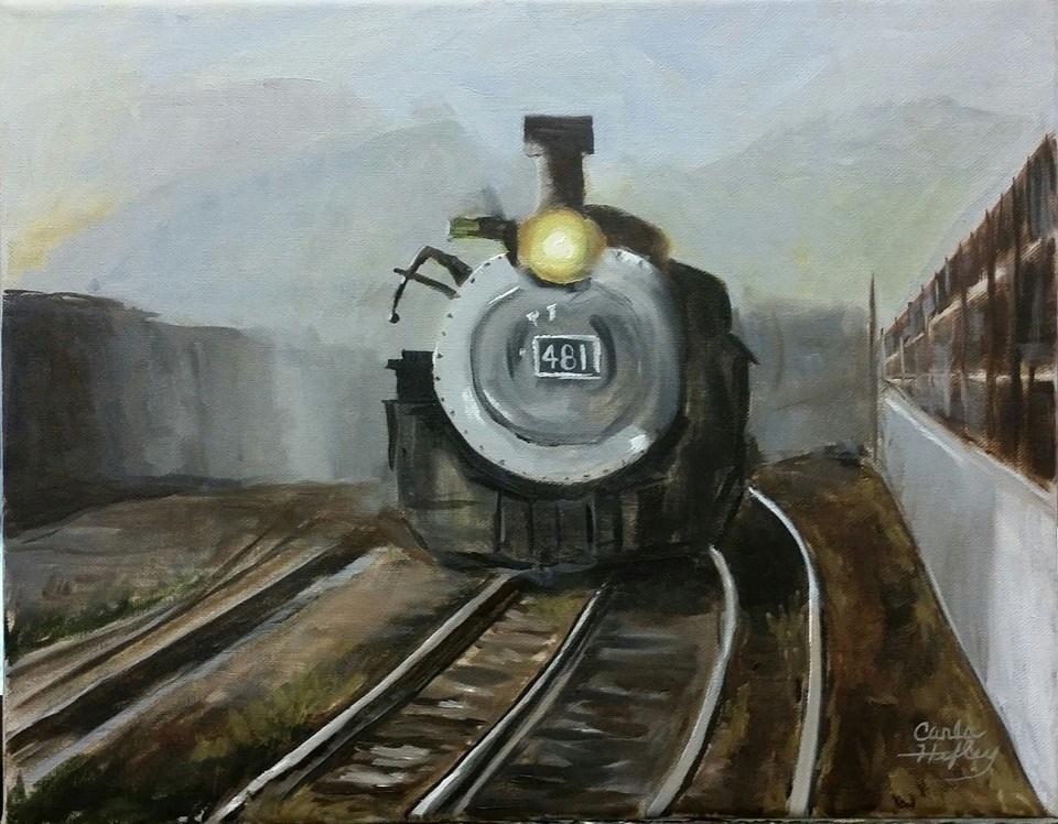 """The 481"" original fine art by Carla Hefley"
