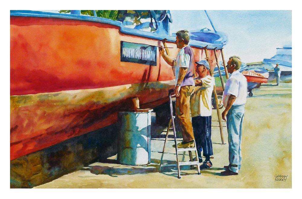 """Finishing touches"" original fine art by Graham Berry"