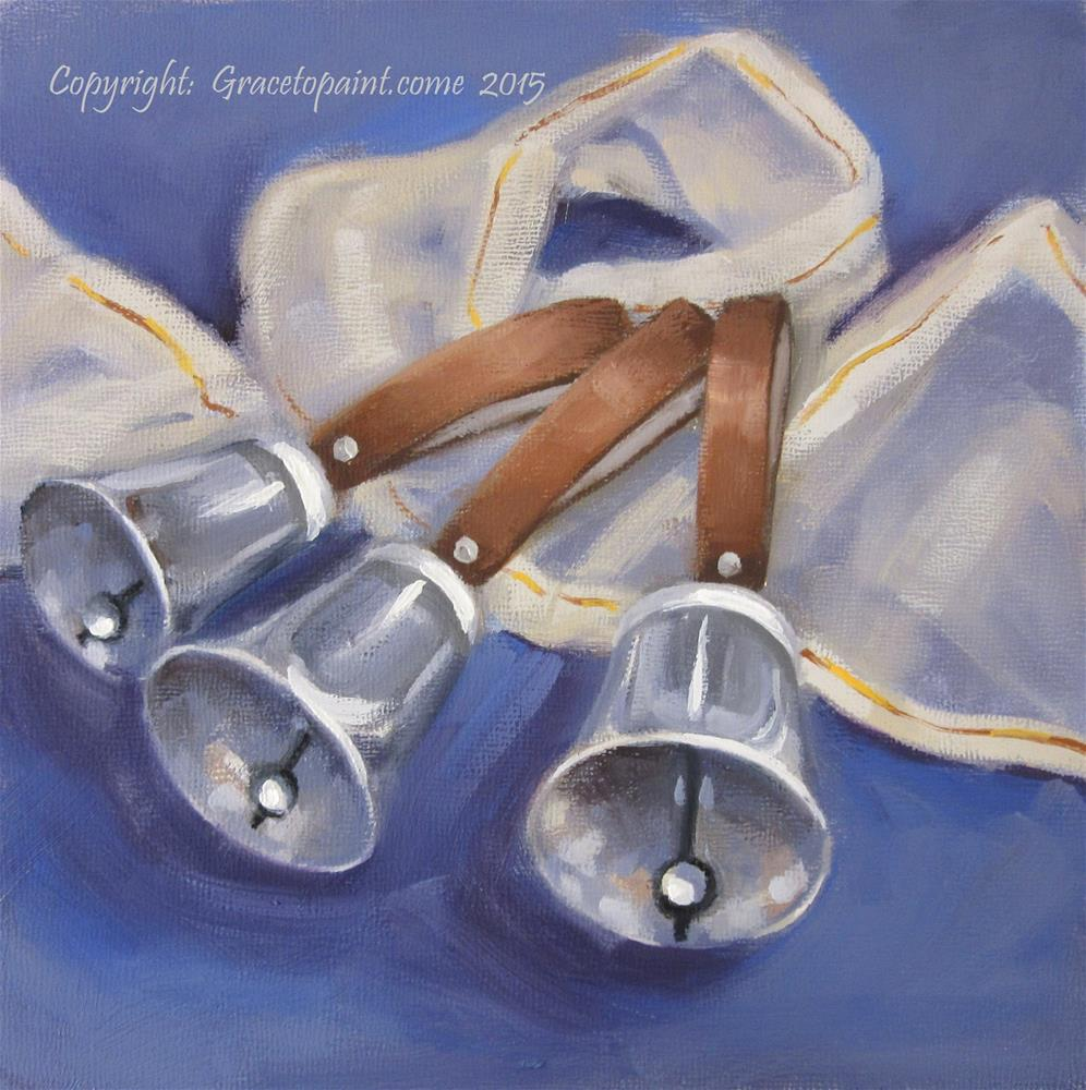 """Handbells"" original fine art by Maresa Lilley"