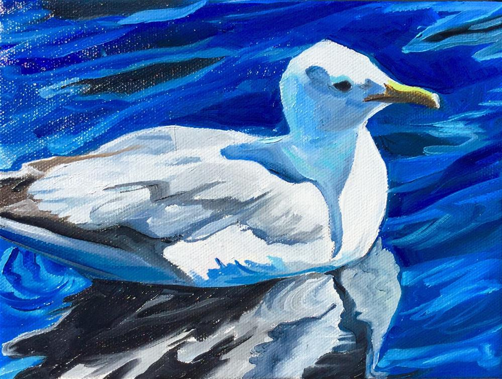 """Gull"" original fine art by Lauren Kuhn"