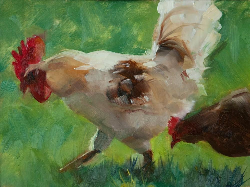 """Go Gamecocks!"" original fine art by Beth Bathe"