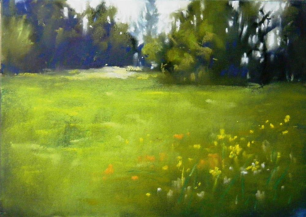 """Into the green"" original fine art by Celine K.  Yong"