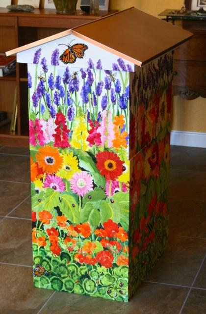 """Bee box mural"" original fine art by JoAnne Perez Robinson"