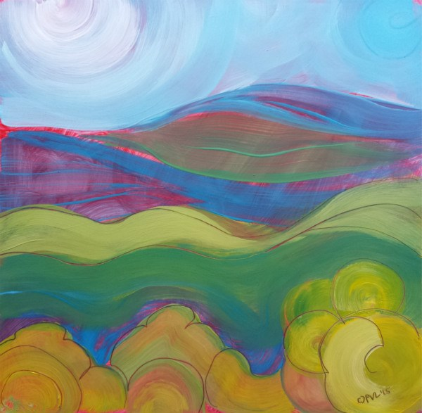 """Valley Morning 22"" original fine art by Pam Van Londen"