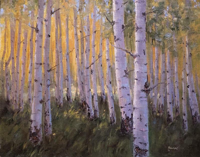 """Aspen Buddies"" original fine art by Bonnie Bowne"