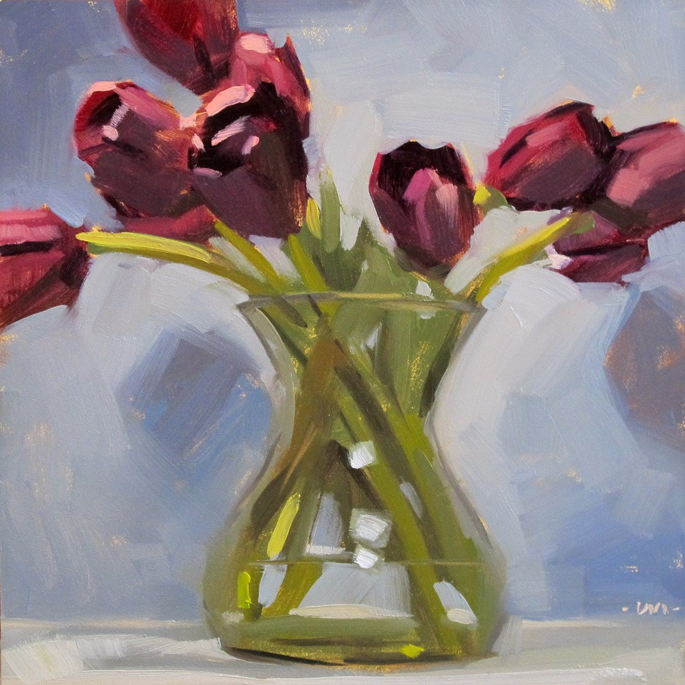 """The New Vase"" original fine art by Carol Marine"
