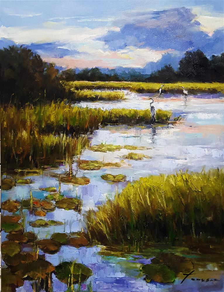 """Marsh"" original fine art by Teresa Yoo"