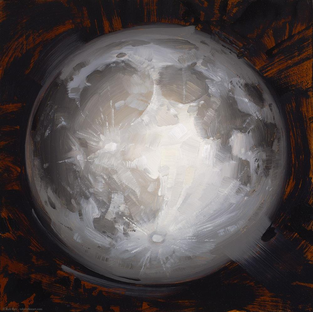 """Moon"" original fine art by Rob  Rey"