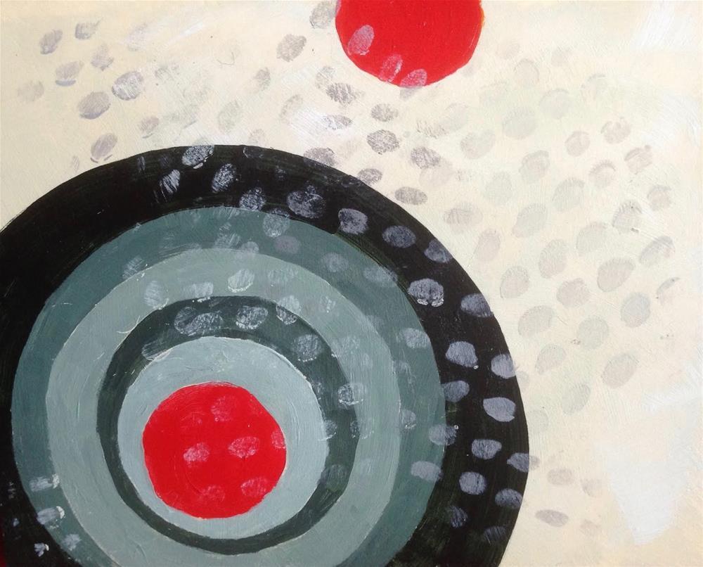 """Postcard as Laboratory"" original fine art by Dotty  Seiter"