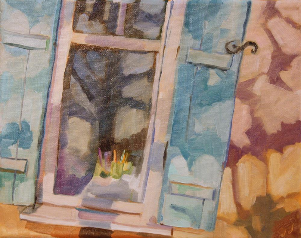 """Santa Fe Window"" original fine art by Jessie Dodington"