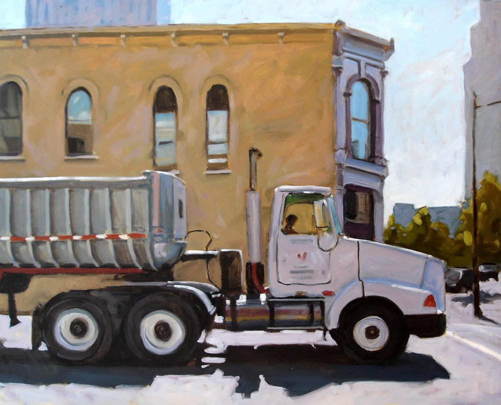 """Big Truck Austin"" original fine art by Carol Marine"