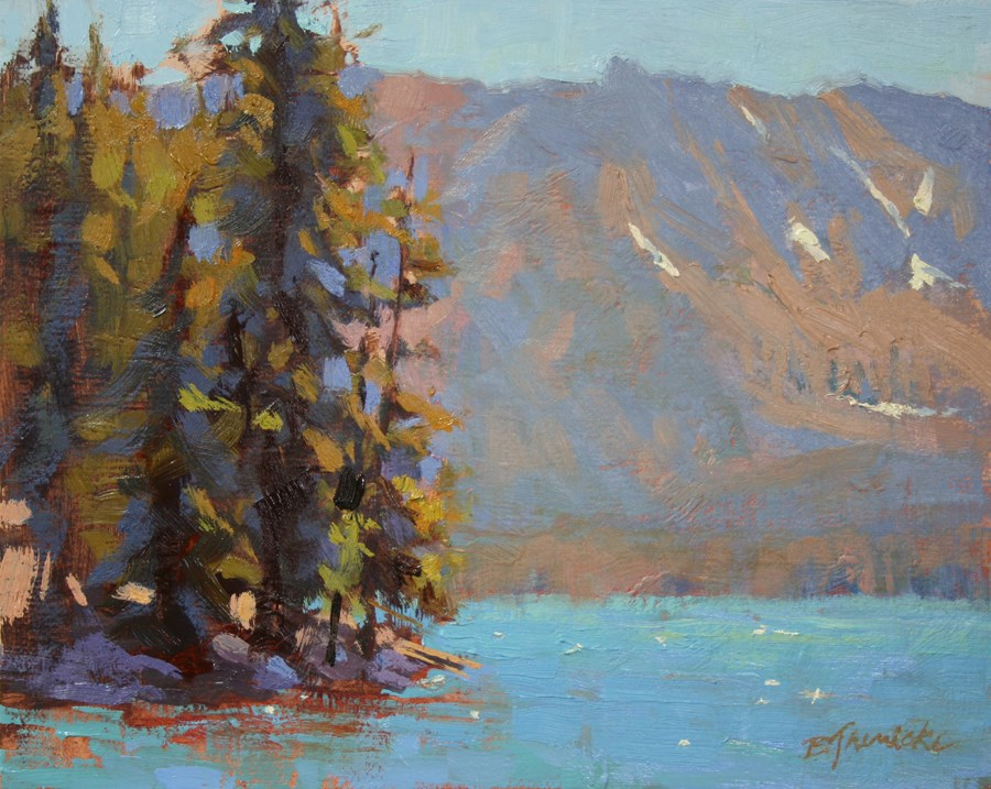 """Summer Day on Paulina Lake"" original fine art by Barbara Jaenicke"