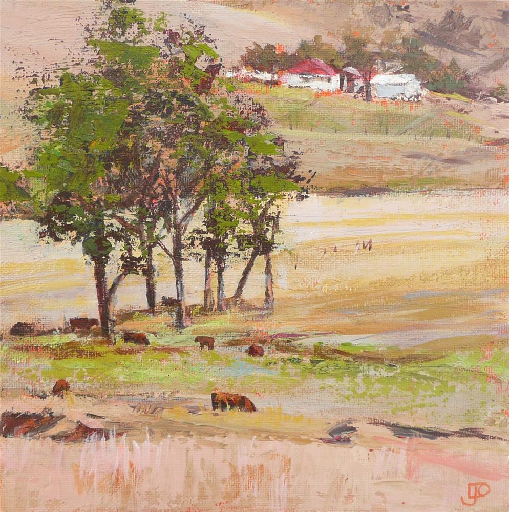 """""""Summer Pasture"""" original fine art by Leanne Owen"""