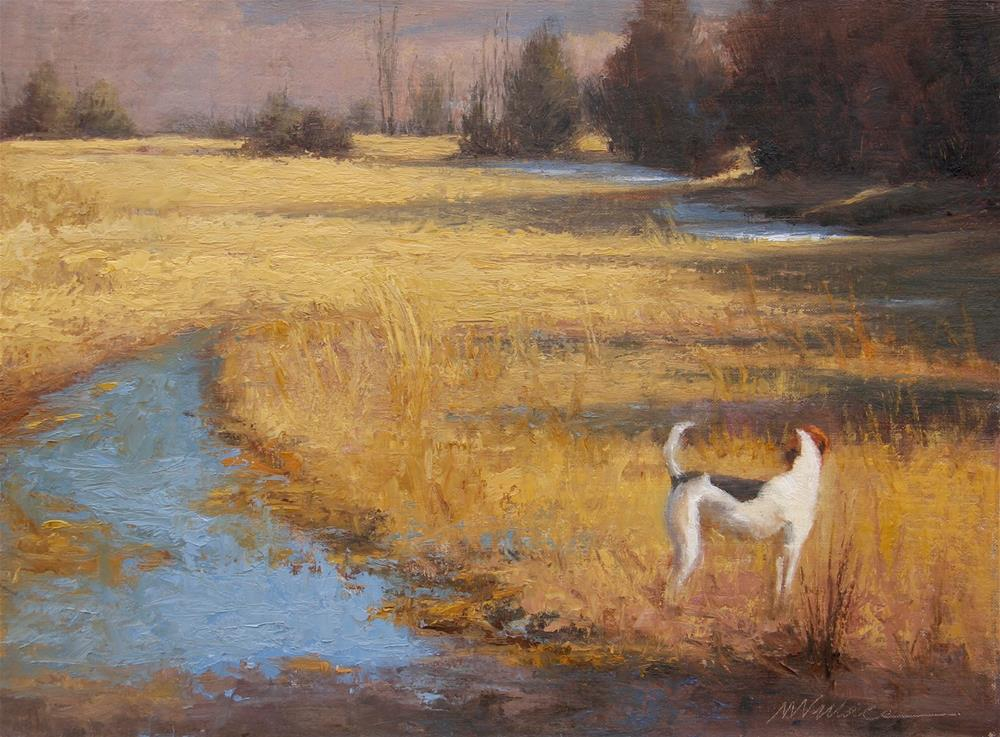 """#18 Goodbye winter"" original fine art by Nancy Wallace"