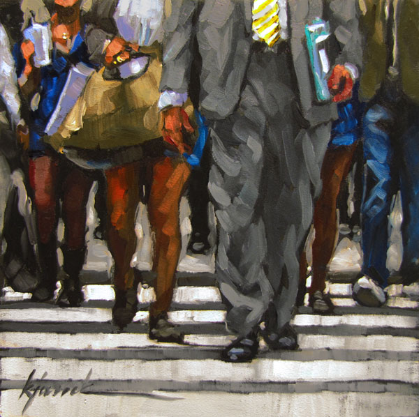 """Mass Transit"" original fine art by Karin Jurick"