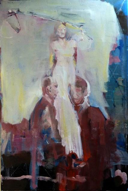 """""""auf der Tanzbühne / on the dance stage"""" original fine art by Mila Plaickner"""