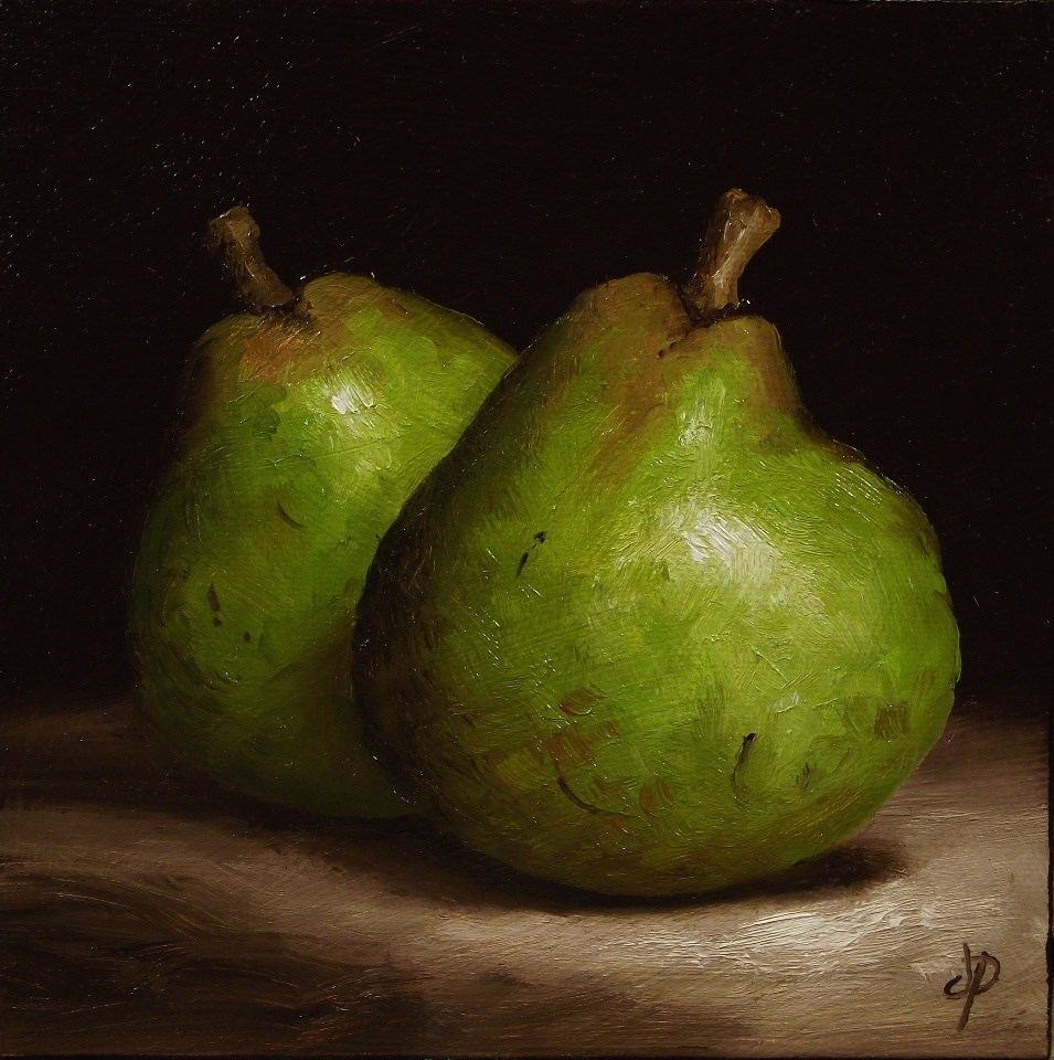 """Comice Pears"" original fine art by Jane Palmer"