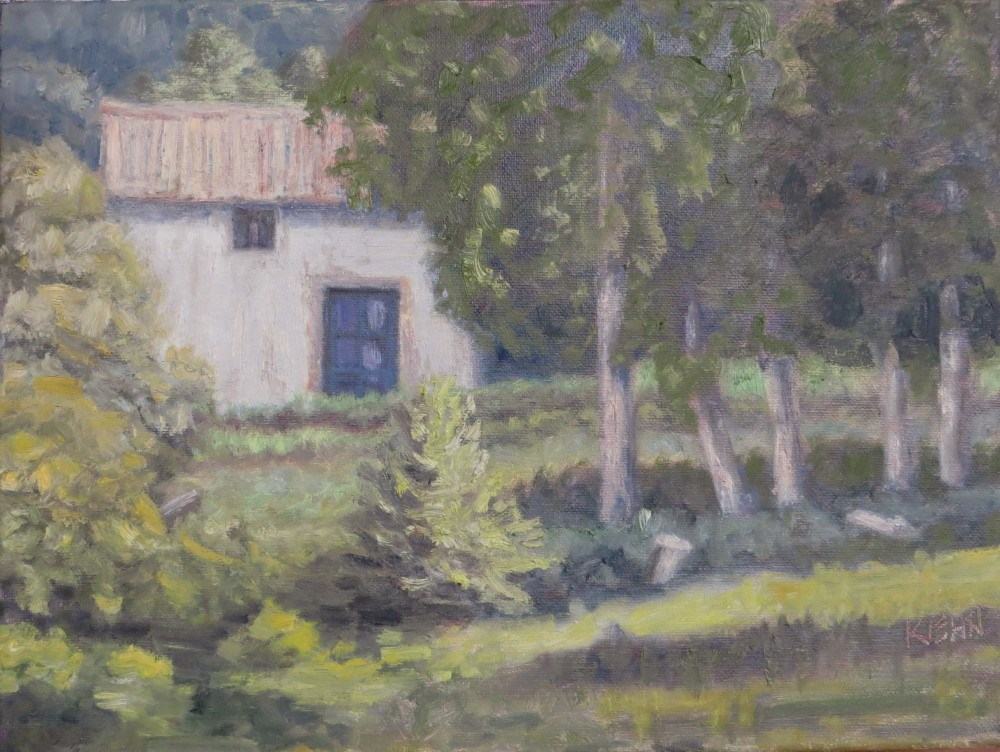 """Old Spanish Farmhouse"" original fine art by Richard Kiehn"