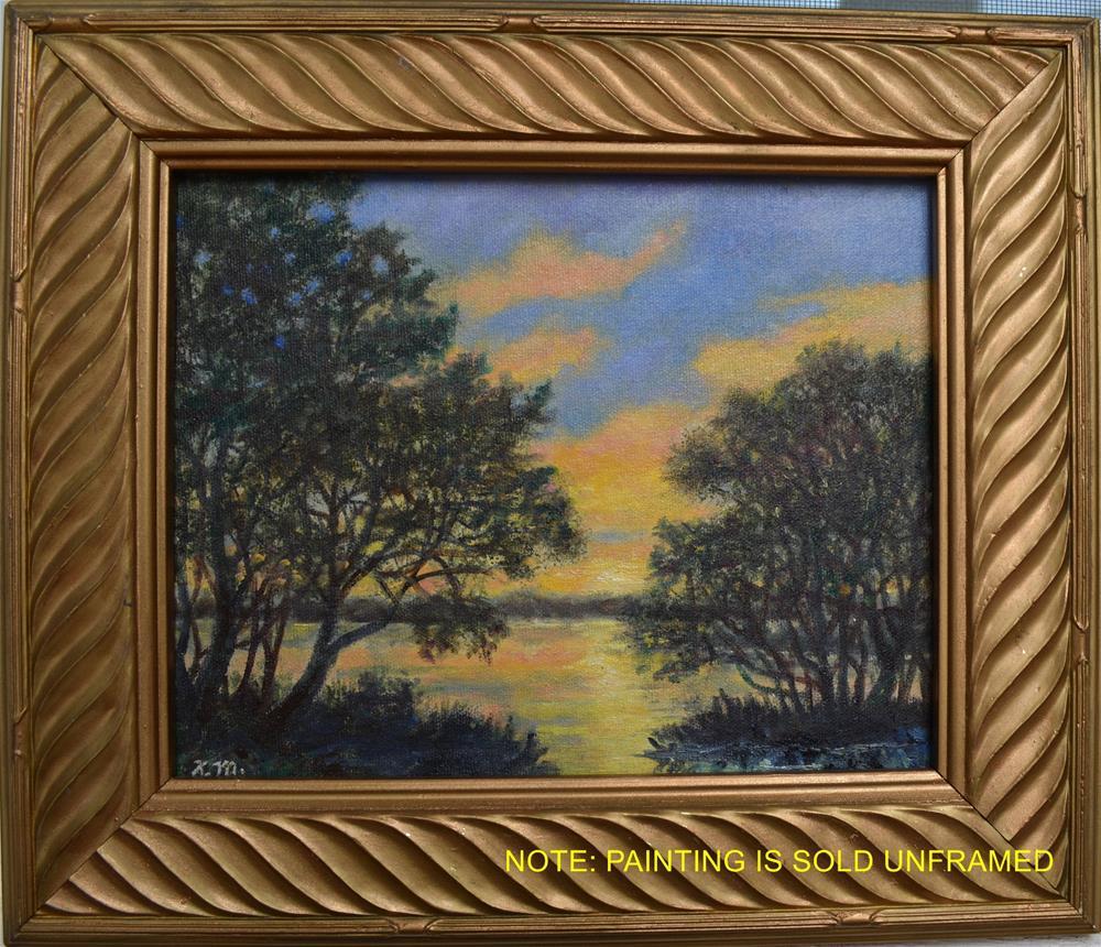 """""""Sunset River # 6"""" original fine art by Kathleen McDermott"""