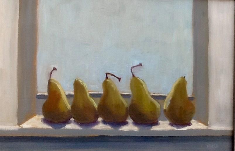 """Thanksgiving Pears"" original fine art by Elizabeth Bish"