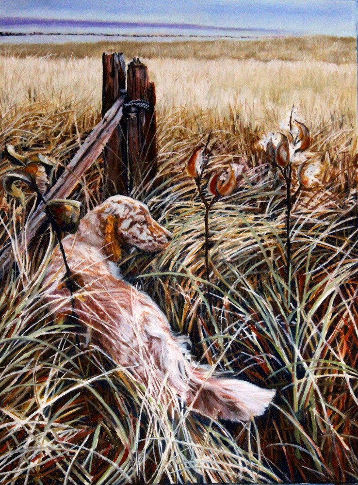 """Grace in the Tall Grass"" original fine art by Jill Bates"