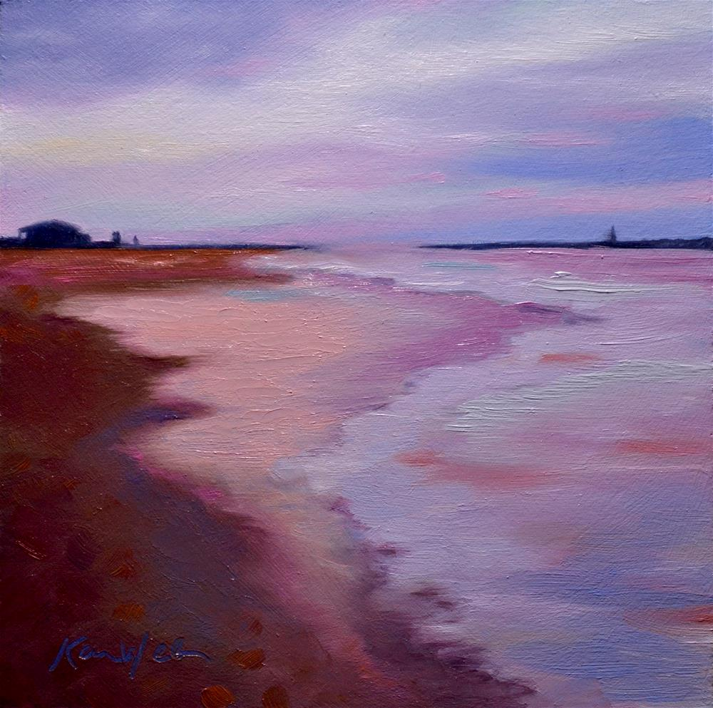 """Red Beach"" original fine art by Karen Weber"