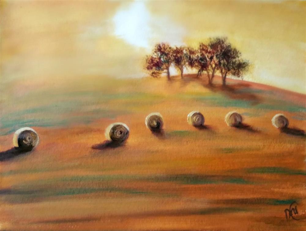 """Warm Sunset"" original fine art by Dana C"