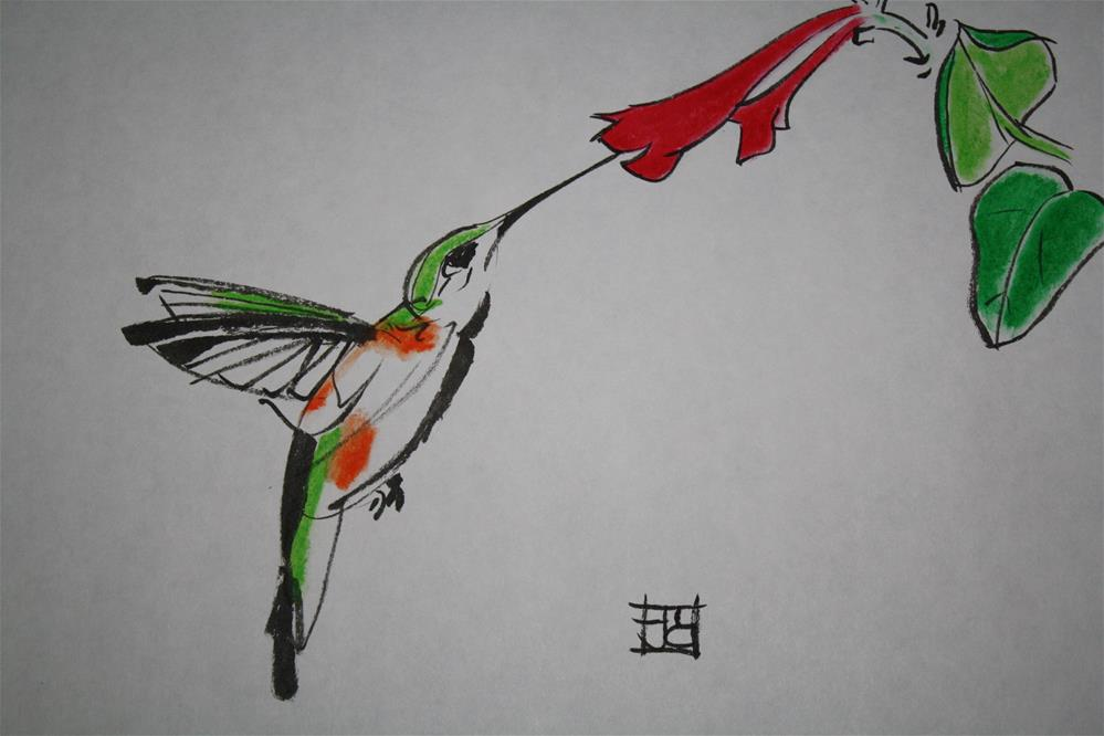 """hummingbird"" original fine art by Arron McGuire"