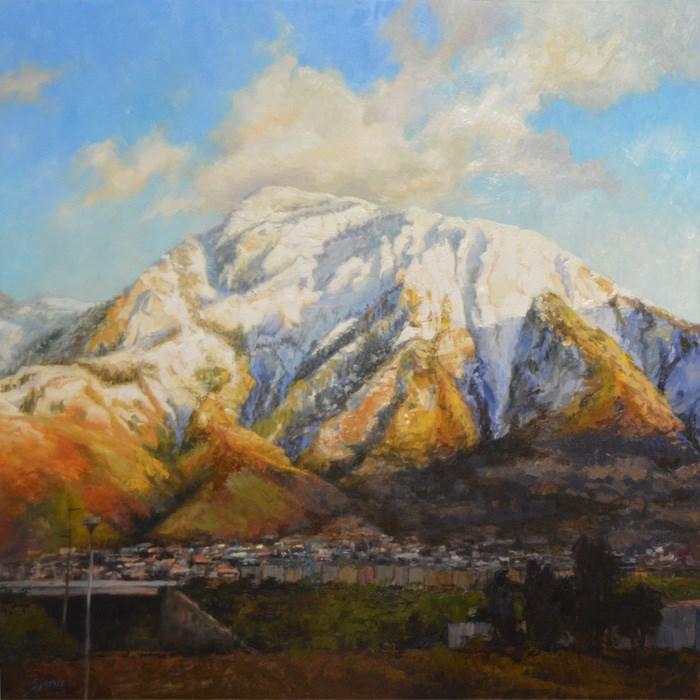 """""""Mount Olympus"""" original fine art by Susan N Jarvis"""