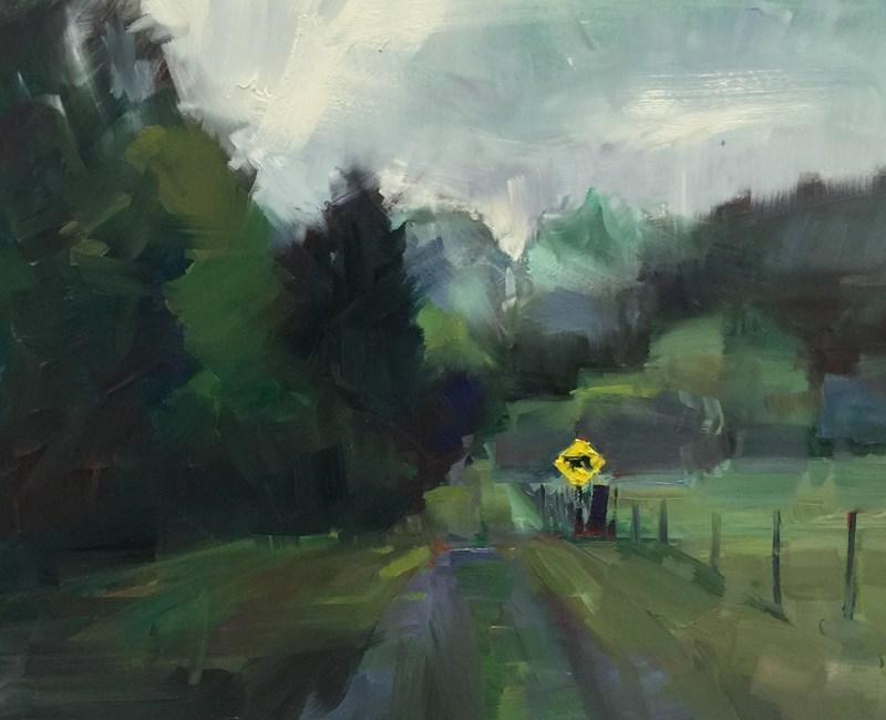 """""""The Gravel Drive"""" original fine art by Patti McNutt"""
