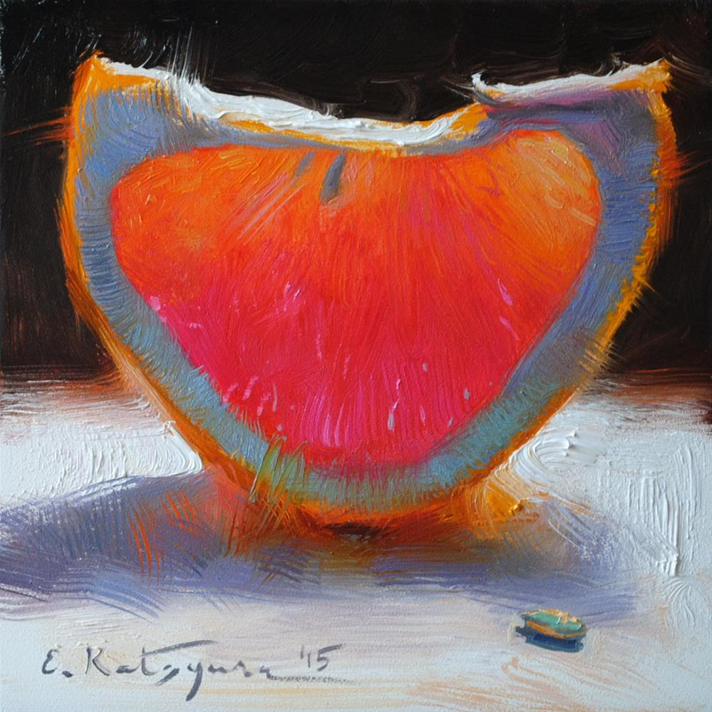 """February Grapefruit"" original fine art by Elena Katsyura"