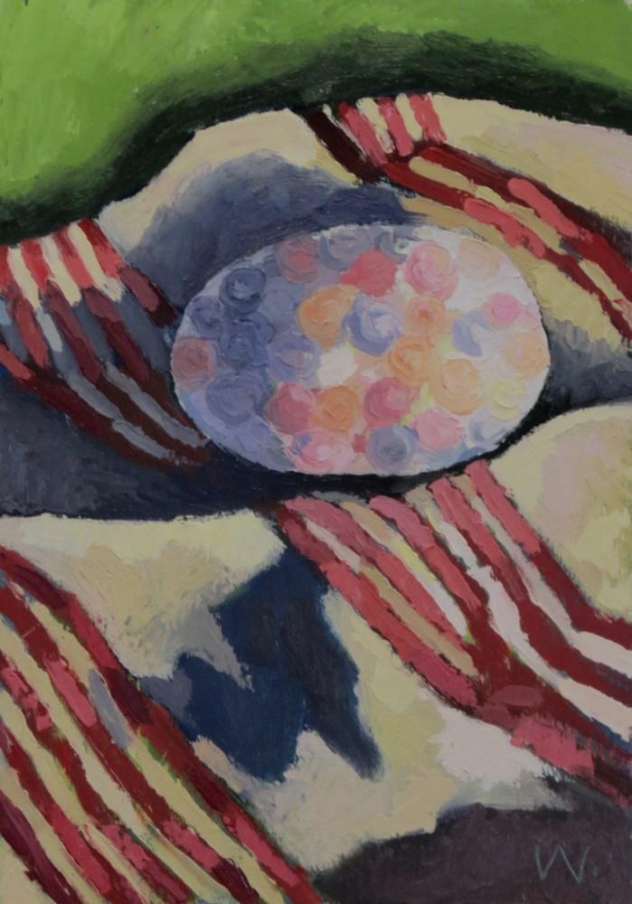 """Gifted Egg"" original fine art by Joan Wiberg"
