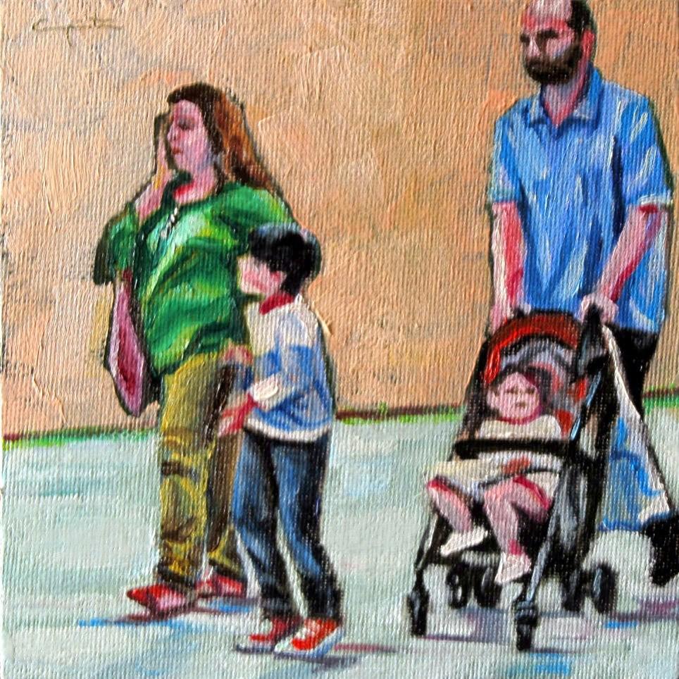 """""""Familia de compras"""" original fine art by Eduardo Carpintero"""
