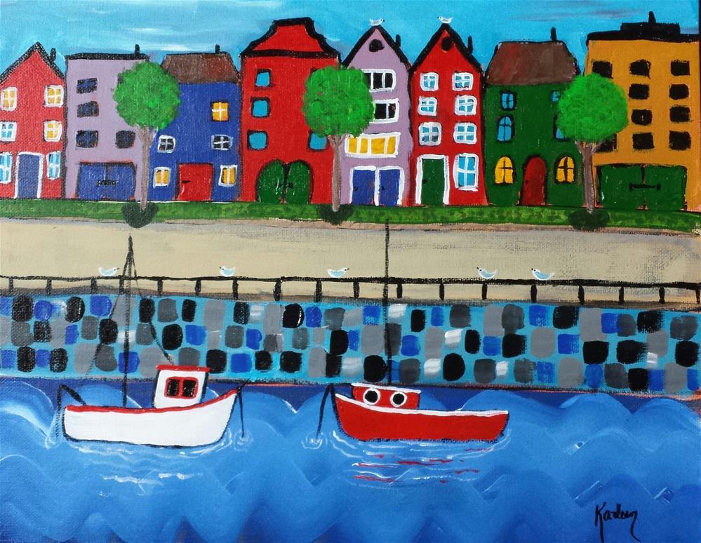 """""""Living Near the River"""" original fine art by Karleen Kareem"""
