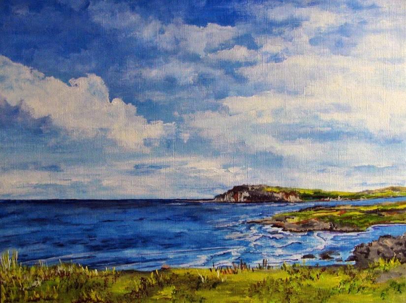 """Shoreline"" original fine art by Nan Johnson"