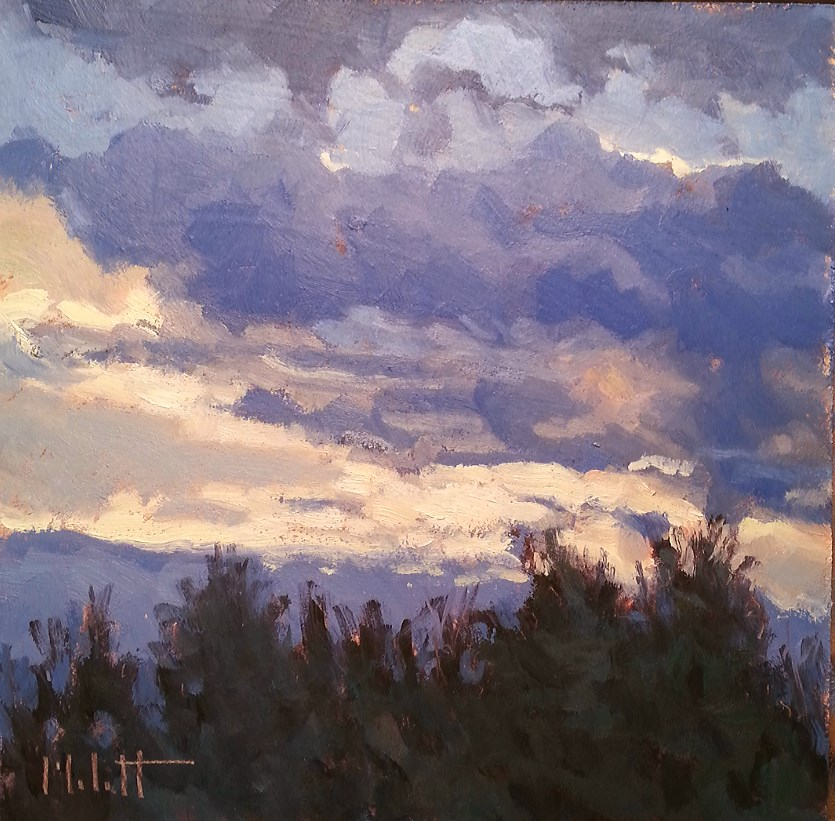 """Contemporary Impressionism November Skies Dramatic Clouds Original Oil Painting"" original fine art by Heidi Malott"