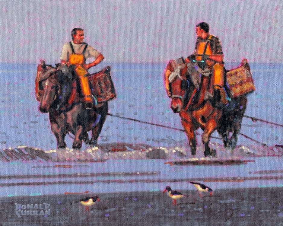"""Shrimp Fishermen"" original fine art by Donald Curran"